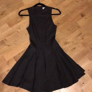 Dark Gray Fit and Flare Amanda Uprichard Dress